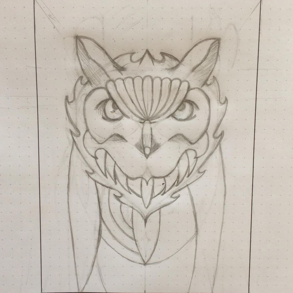 Horned Owl - image 4 - student project