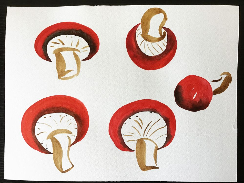 flowers and mushrooms from Anna Sokolova class - image 2 - student project