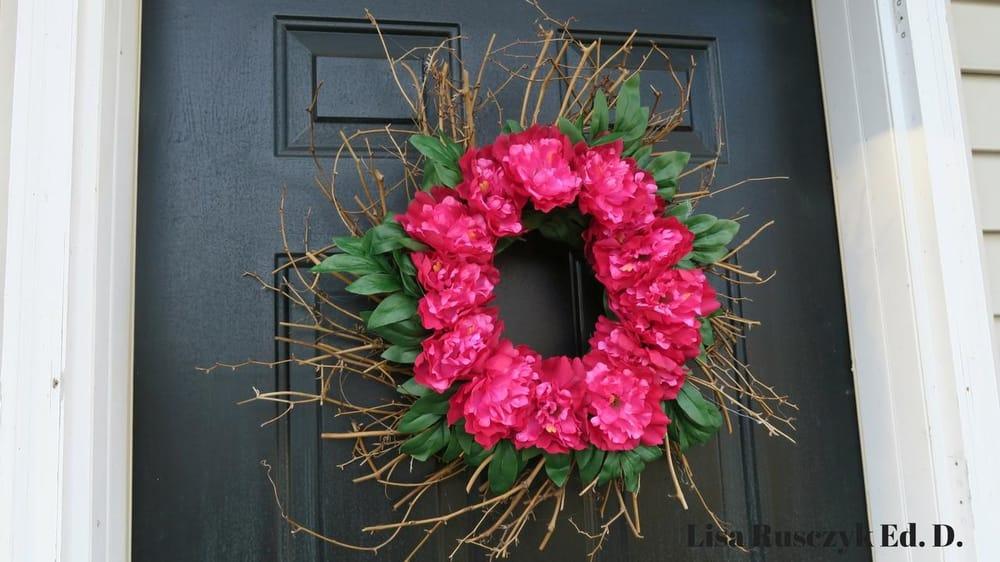 Flower Front Door Wreath - image 1 - student project