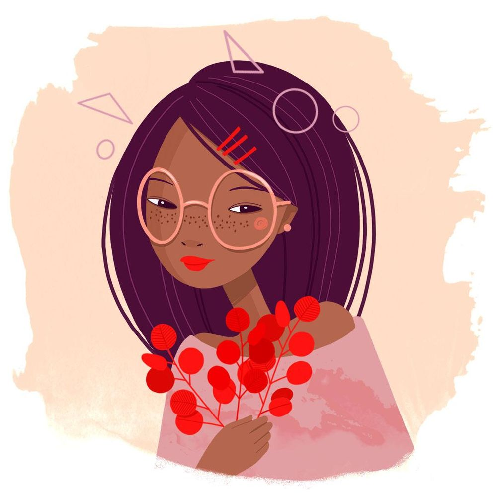 Black girl with glasses - image 1 - student project