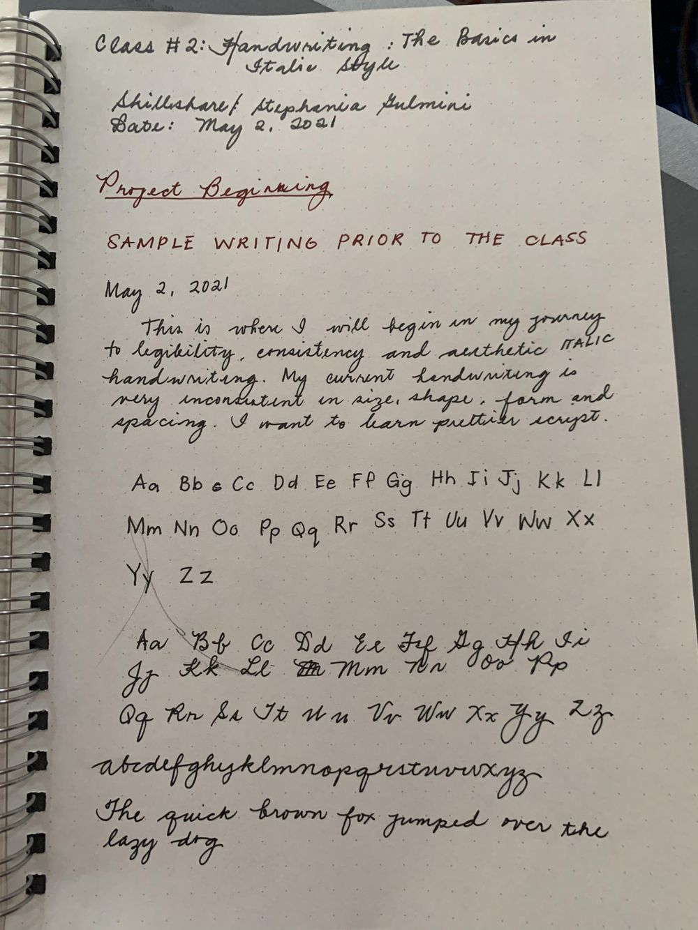 Maia- Handwriting Improvement Journey - image 1 - student project
