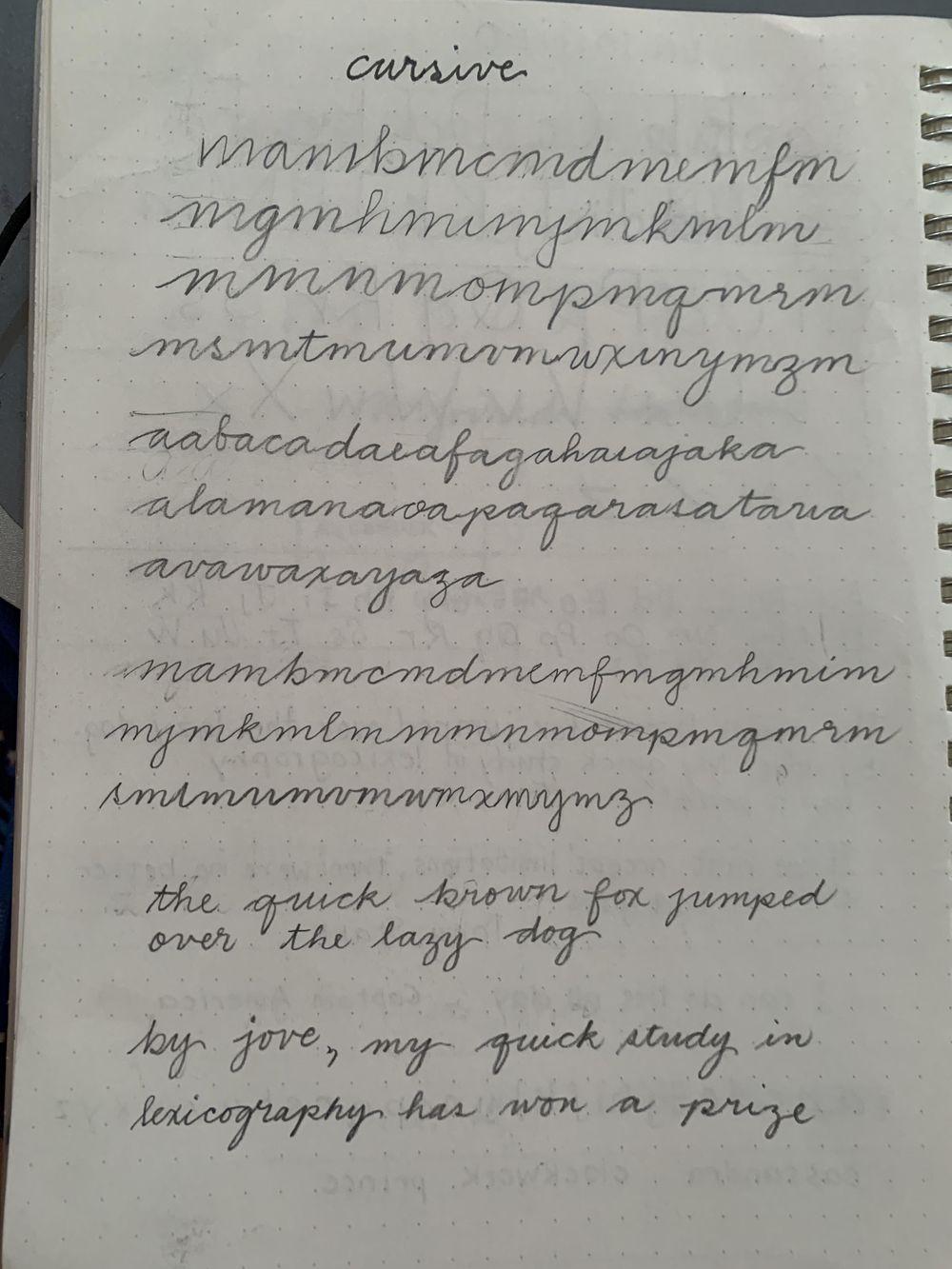 Maia- Handwriting Improvement Journey - image 5 - student project