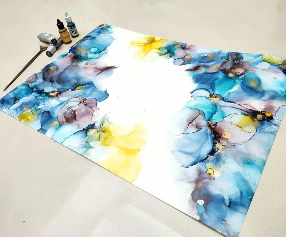 Alcohol ink art - image 3 - student project