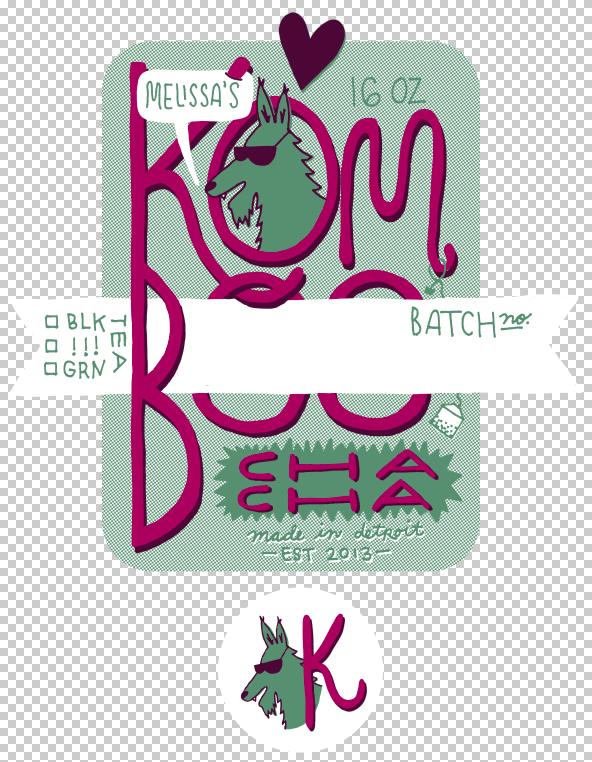 Kombucha label - image 10 - student project