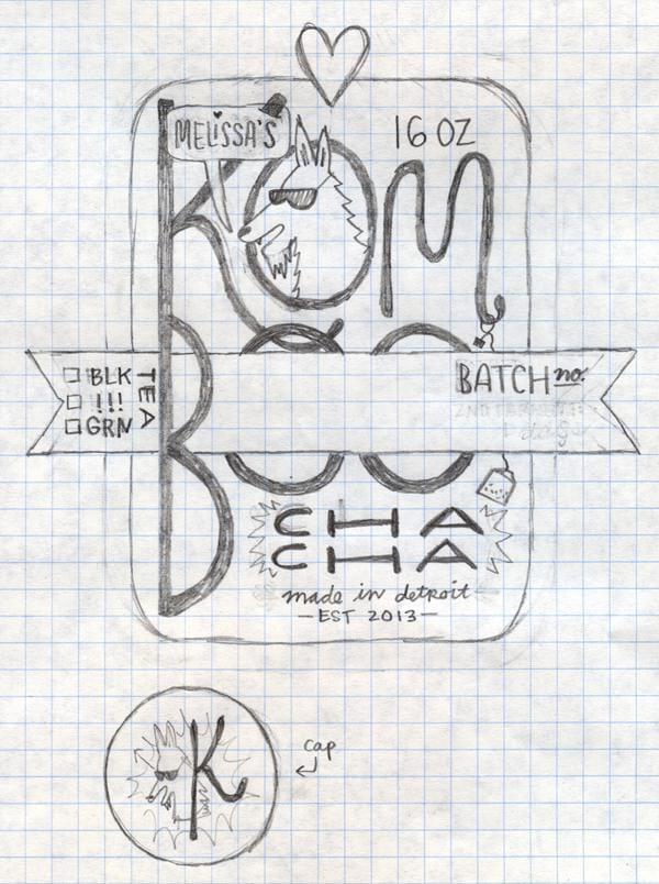 Kombucha label - image 9 - student project