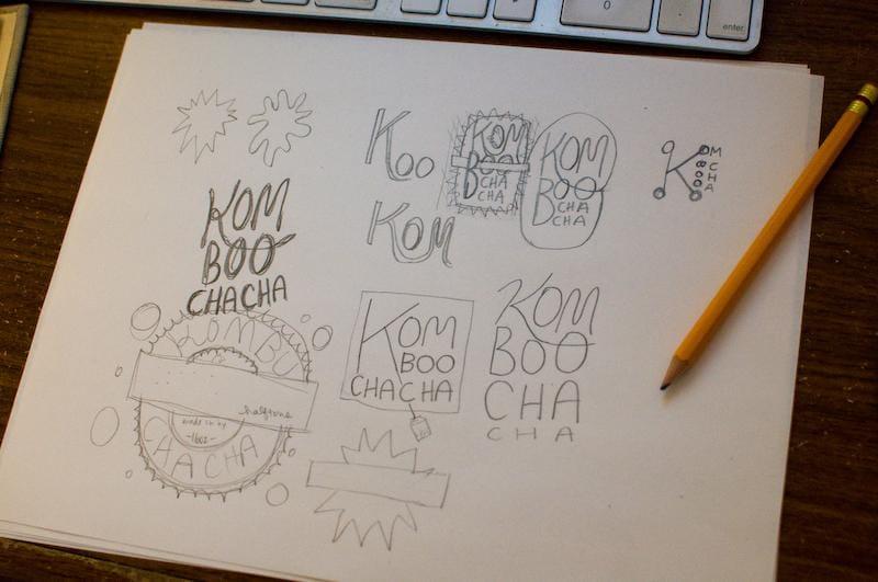 Kombucha label - image 6 - student project