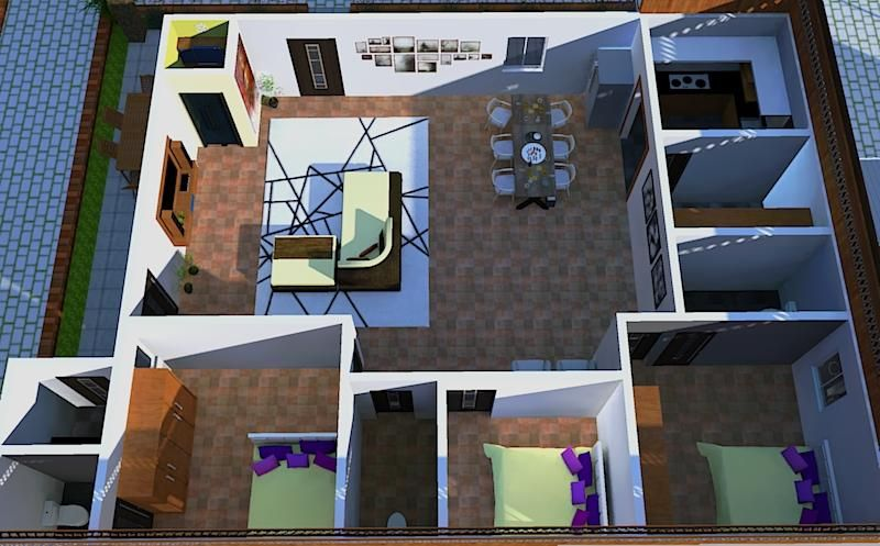 Residential interiors - image 2 - student project