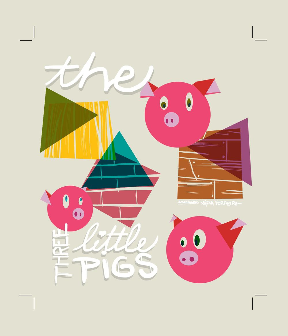 Illustration in Practice - Three Little Pigs project - image 5 - student project