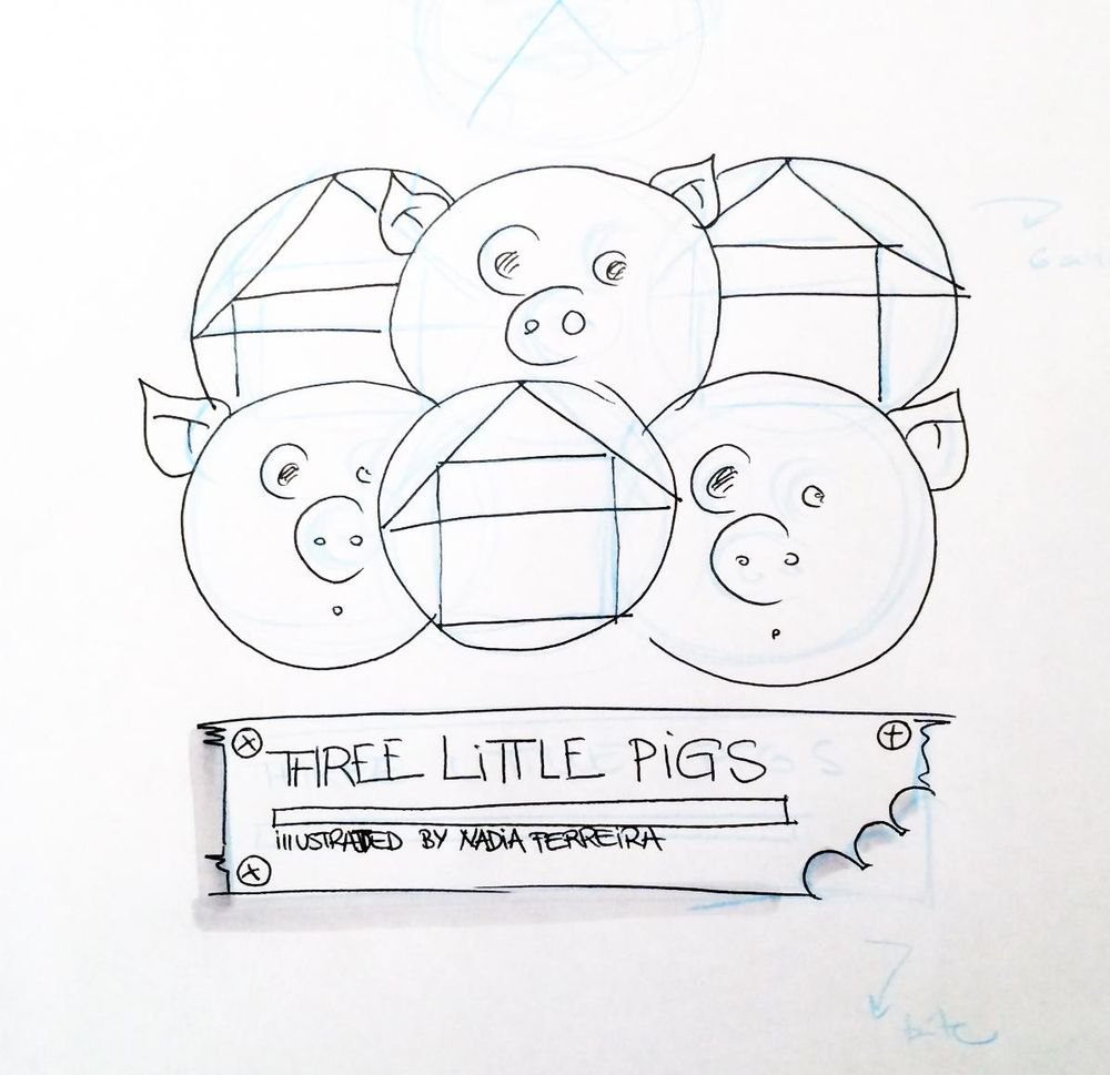 Illustration in Practice - Three Little Pigs project - image 3 - student project