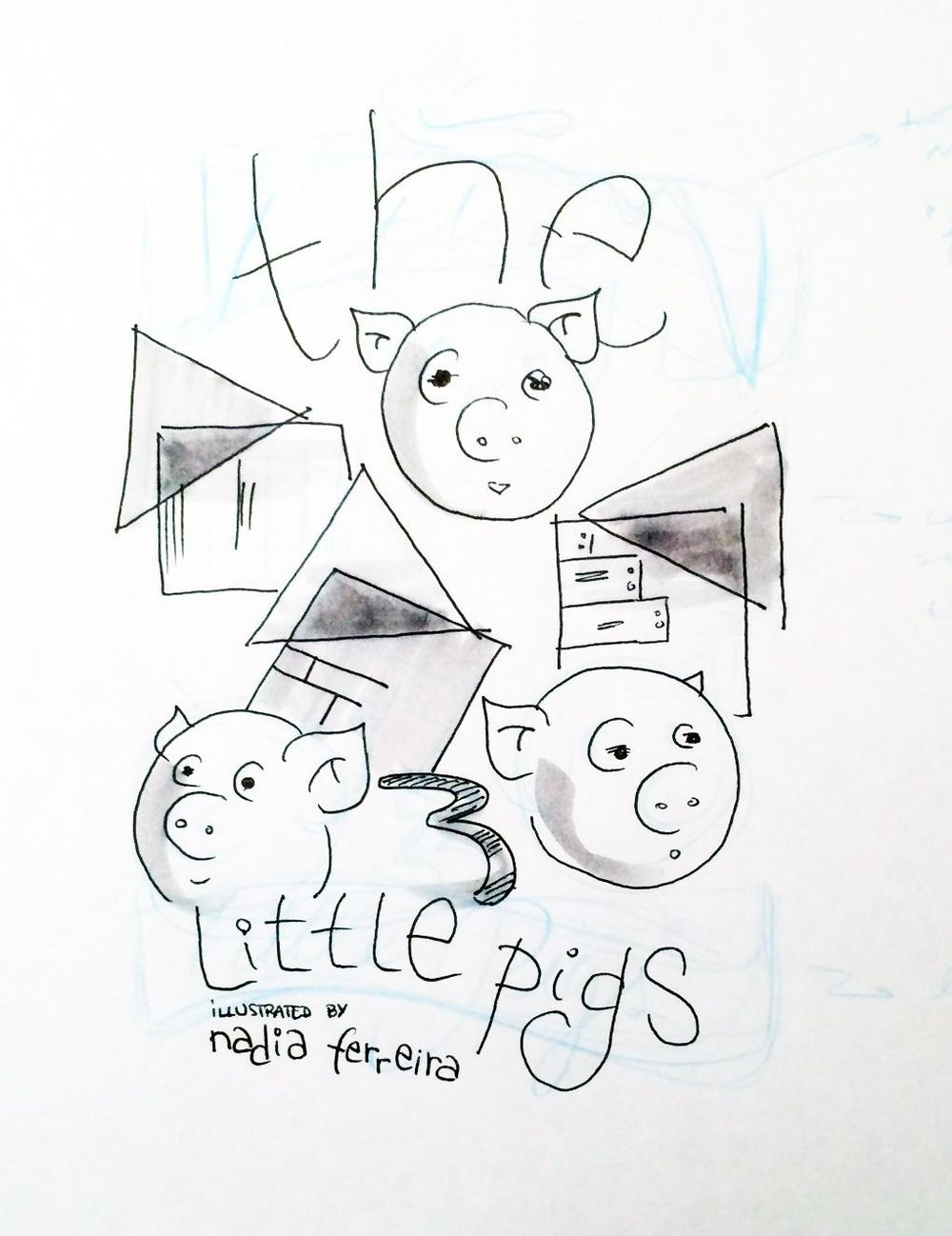Illustration in Practice - Three Little Pigs project - image 4 - student project