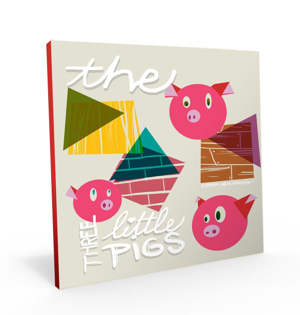 Illustration in Practice - Three Little Pigs project - image 6 - student project