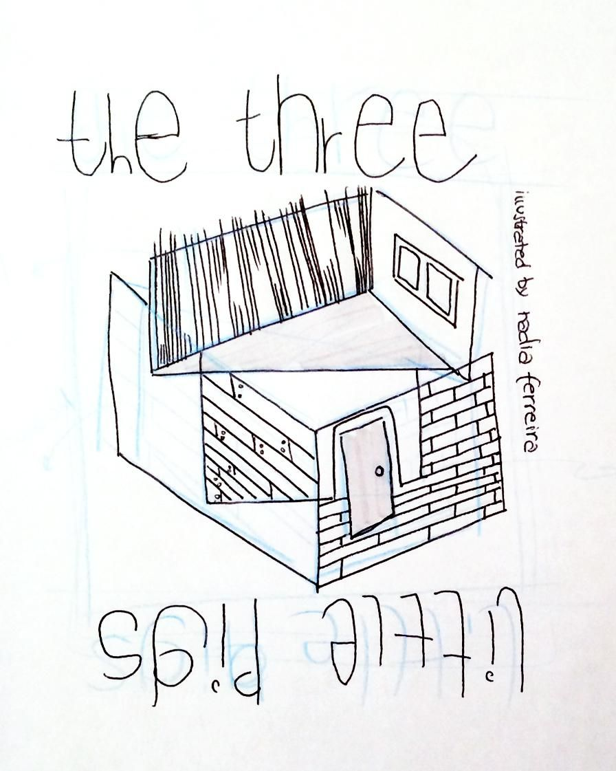 Illustration in Practice - Three Little Pigs project - image 2 - student project