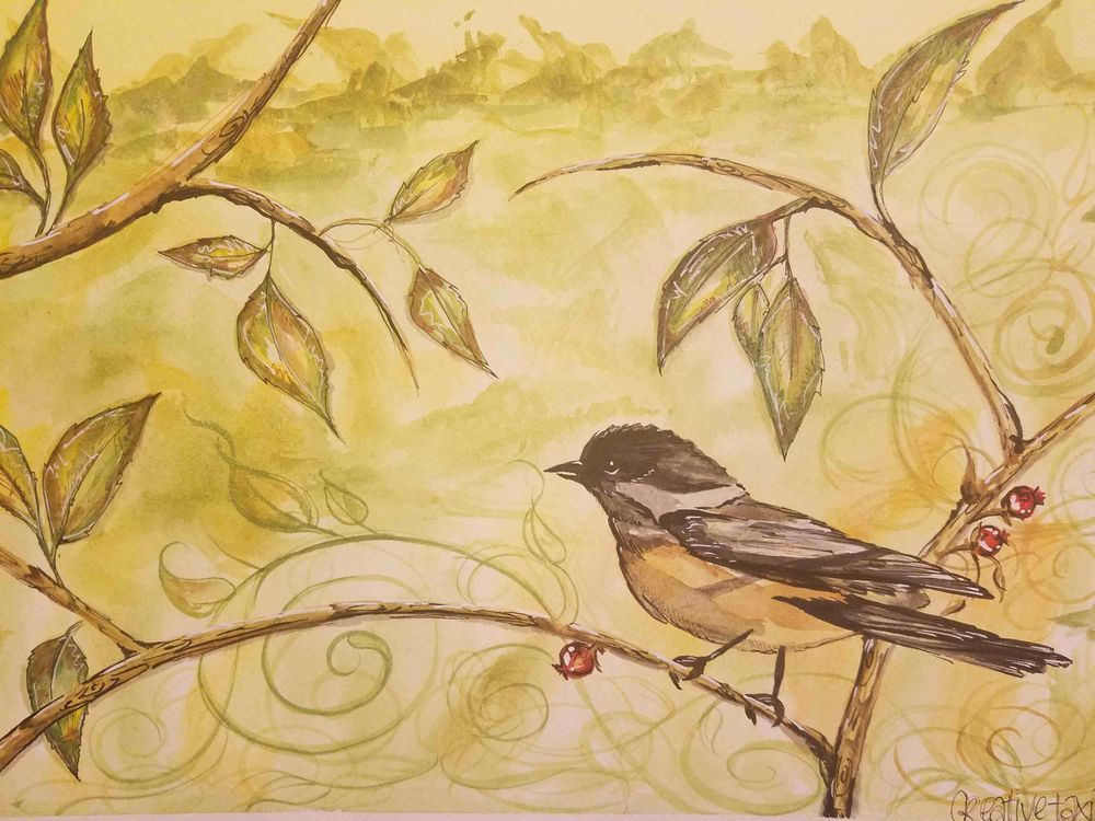 Mountain Chickadee- Creative Taxi - image 2 - student project