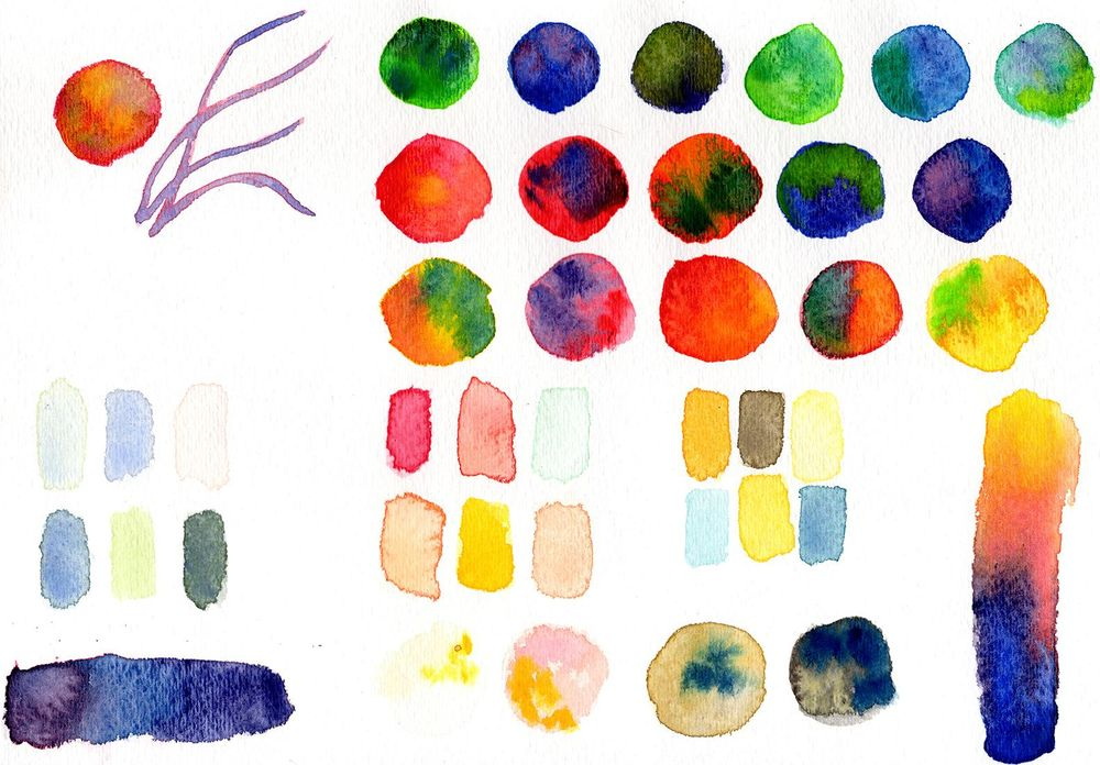 Watercolor Mixing - image 1 - student project