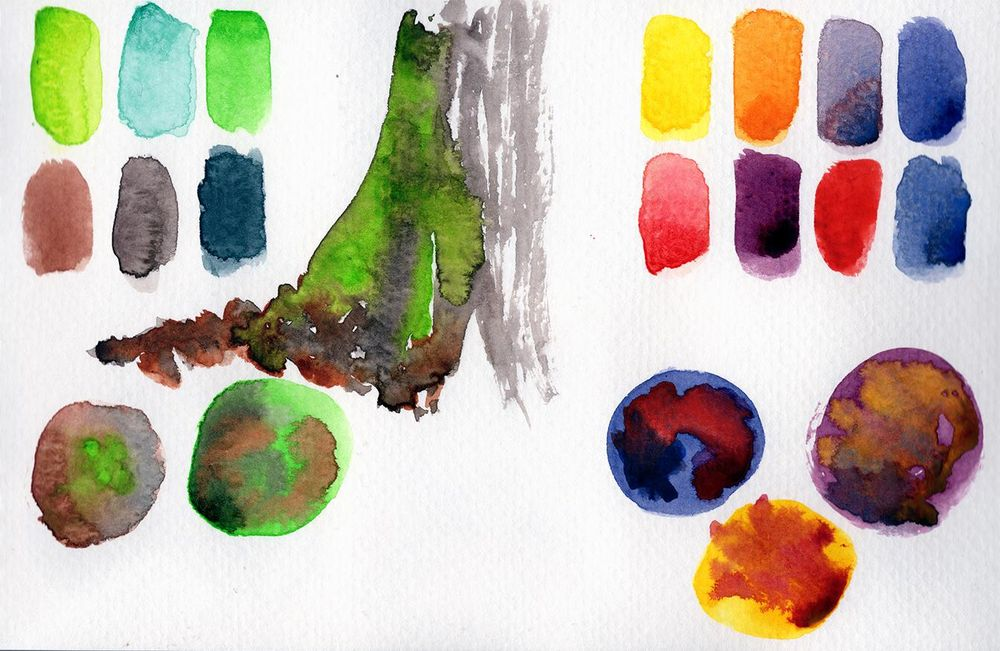Watercolor Mixing - image 2 - student project