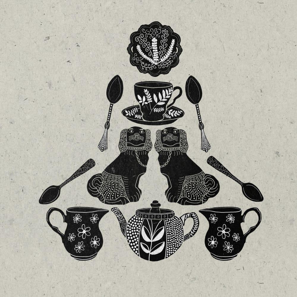 Antique Welsh dresser inspired Folk art - image 1 - student project
