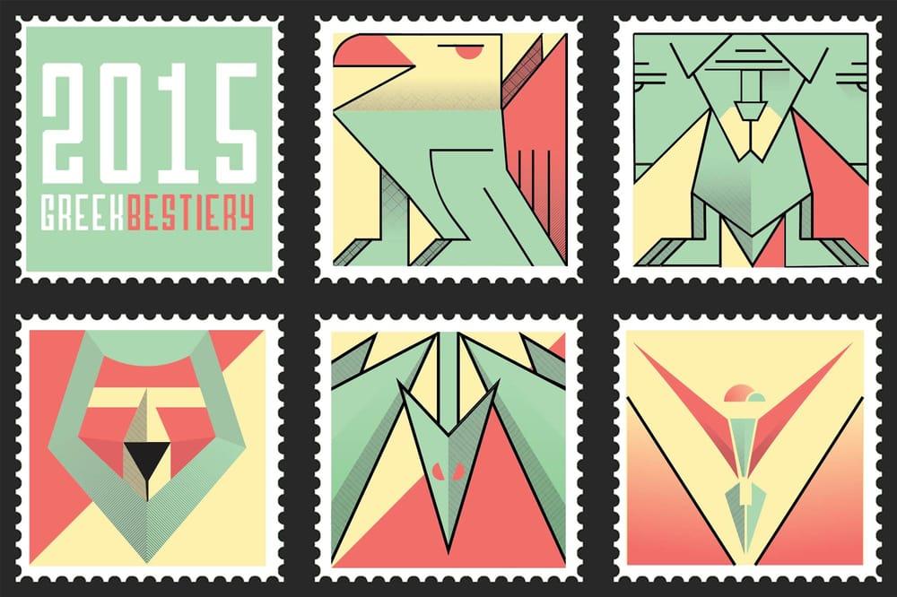 Greek Mythos Bestiary Stampset - image 1 - student project