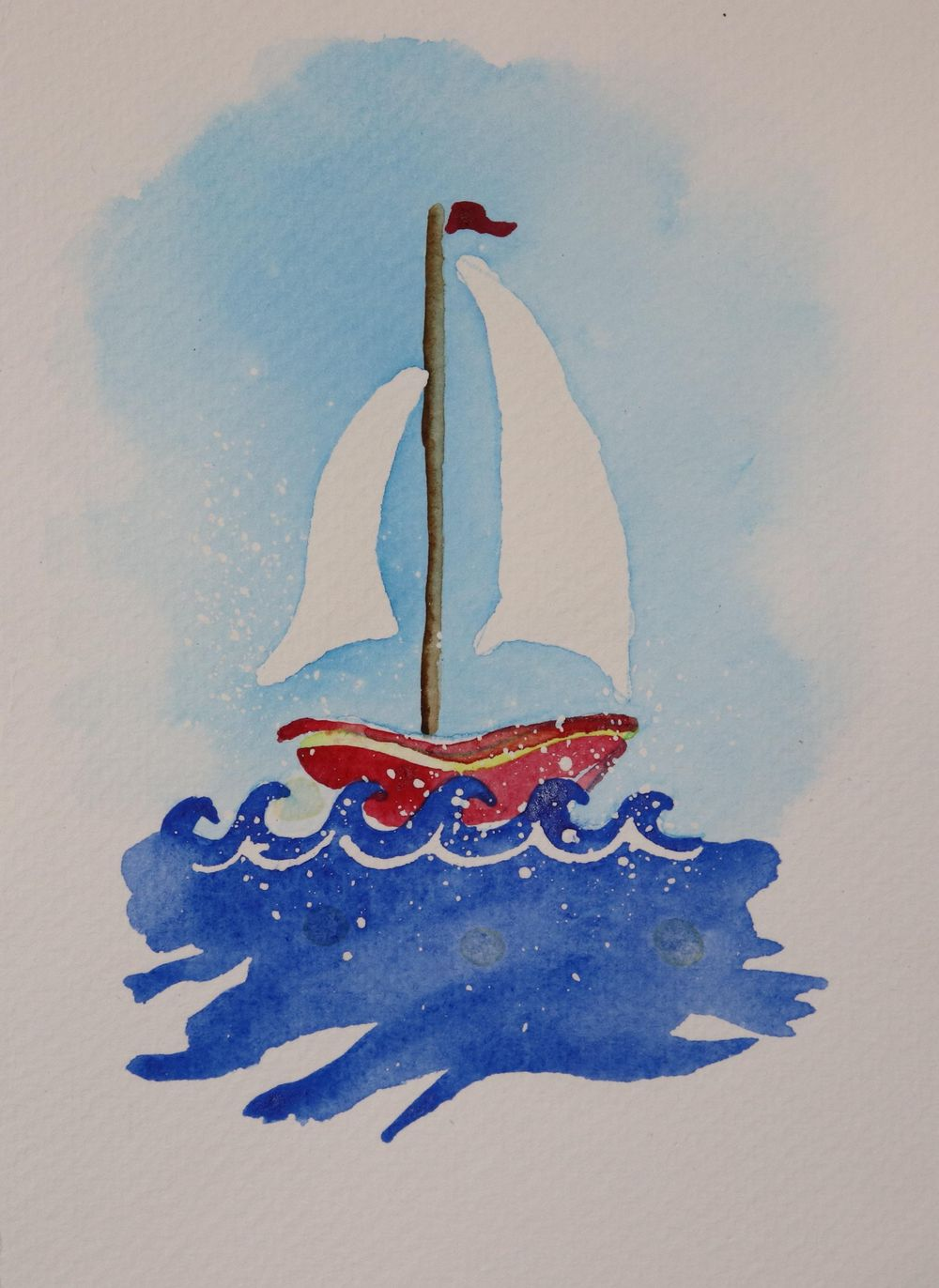 Rock Your Boat Greeting Card - image 1 - student project