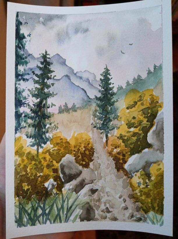 Step by step landscape painting - image 2 - student project