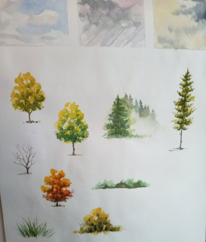 Step by step landscape painting - image 1 - student project