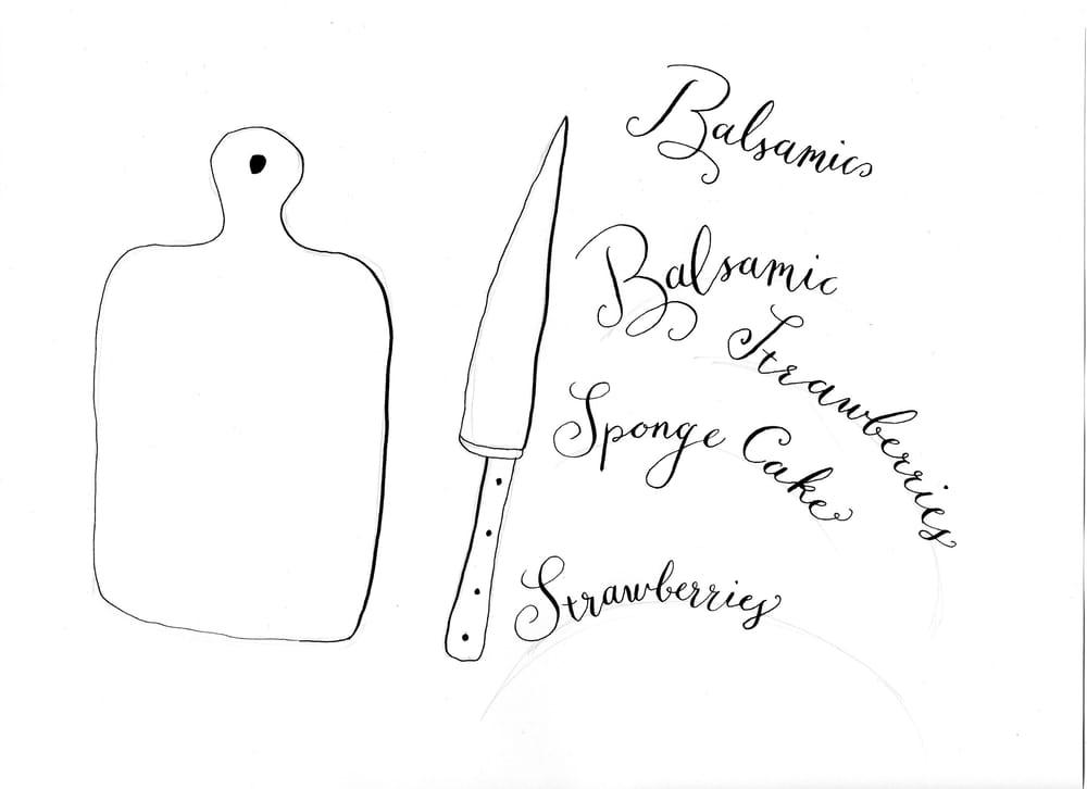 Balsamic Strawberry Sponge Cake - image 6 - student project