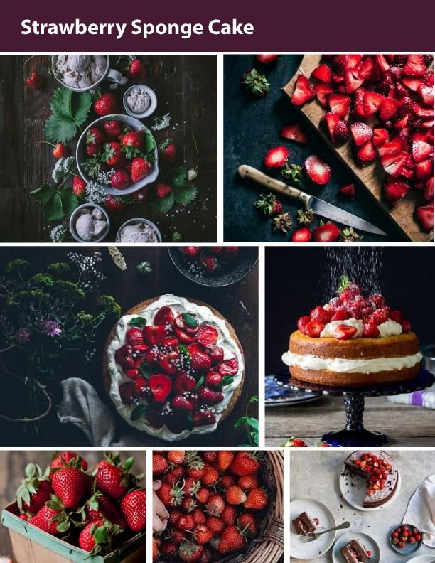 Balsamic Strawberry Sponge Cake - image 1 - student project