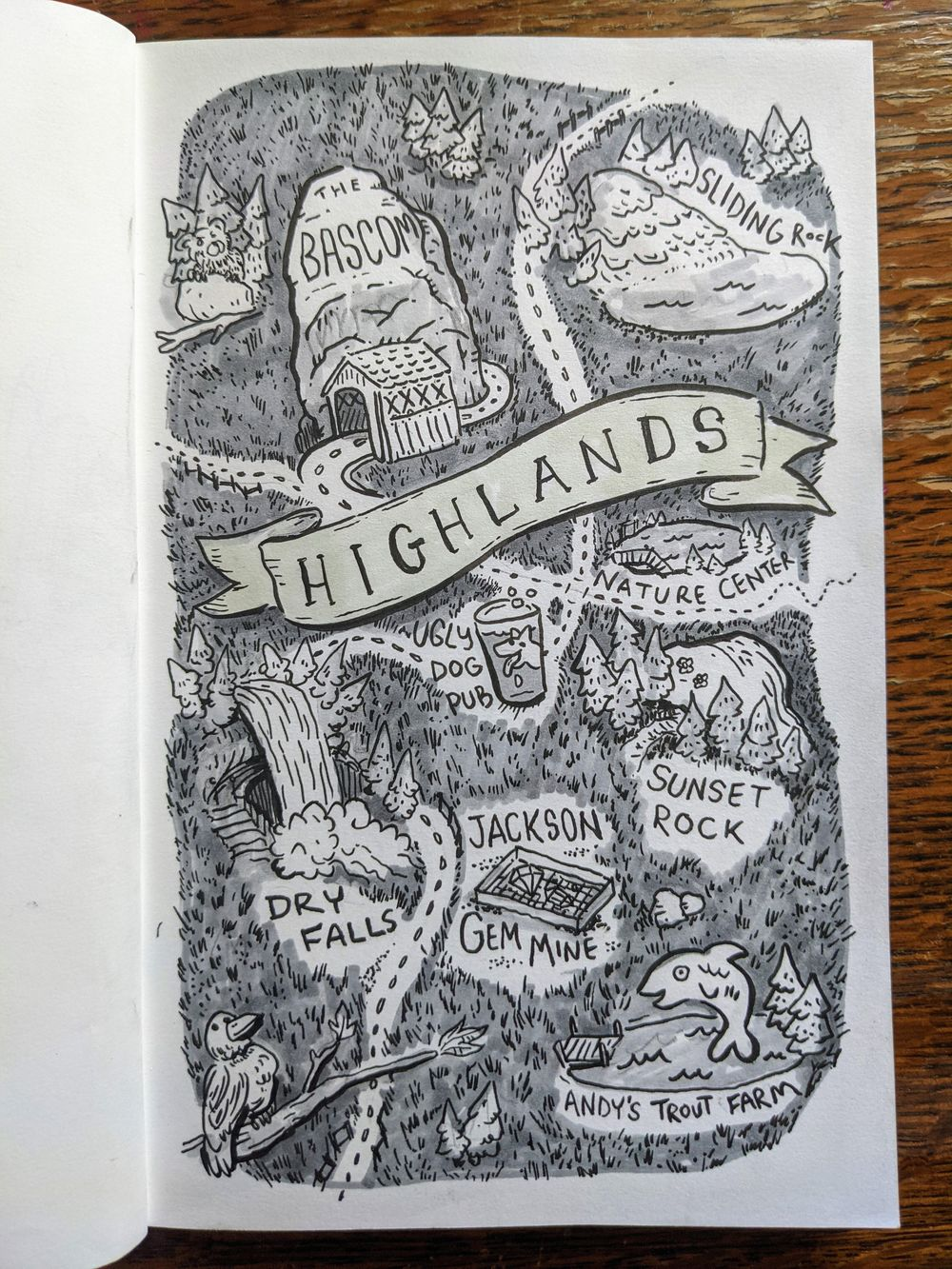 Map of Highlands - image 1 - student project