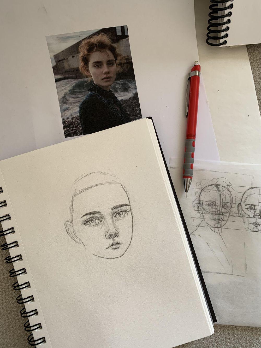 Portrait Mimicry Sketch - image 2 - student project