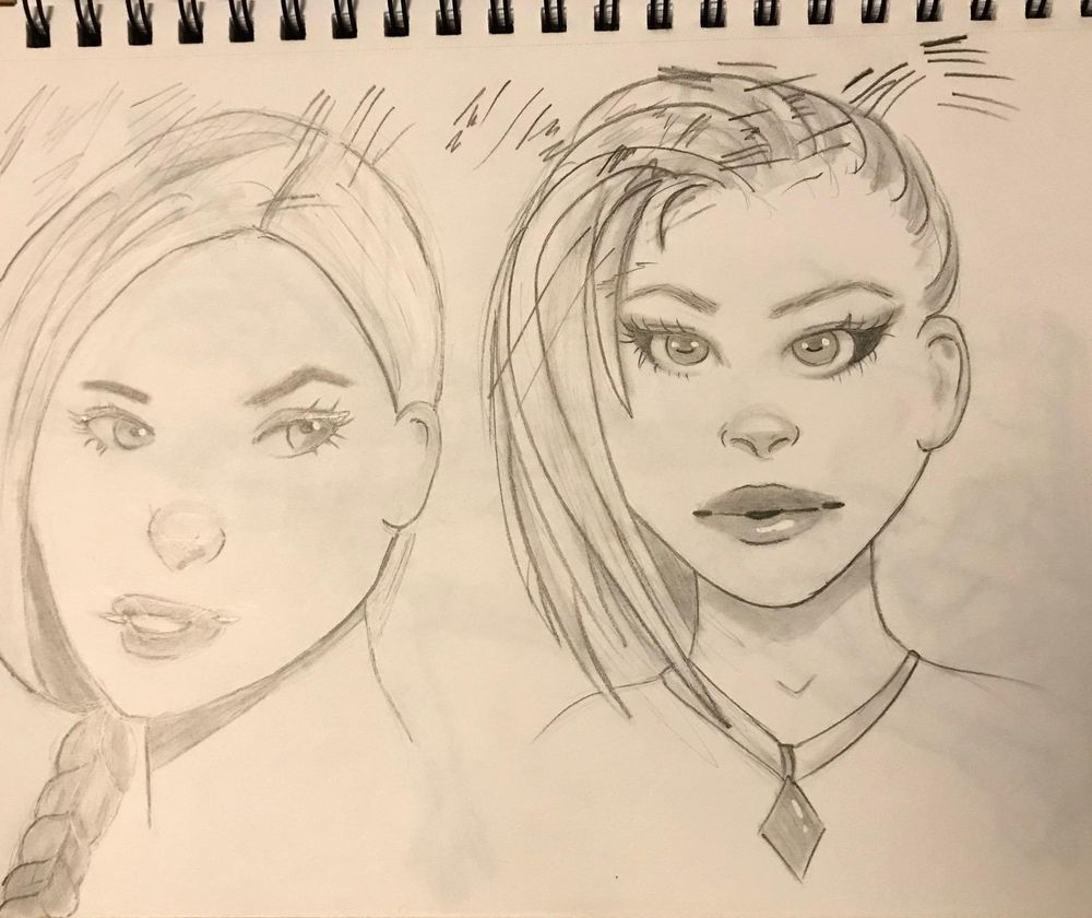 Girl Sketches - image 3 - student project