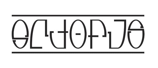 Octopus Ambigram - image 2 - student project