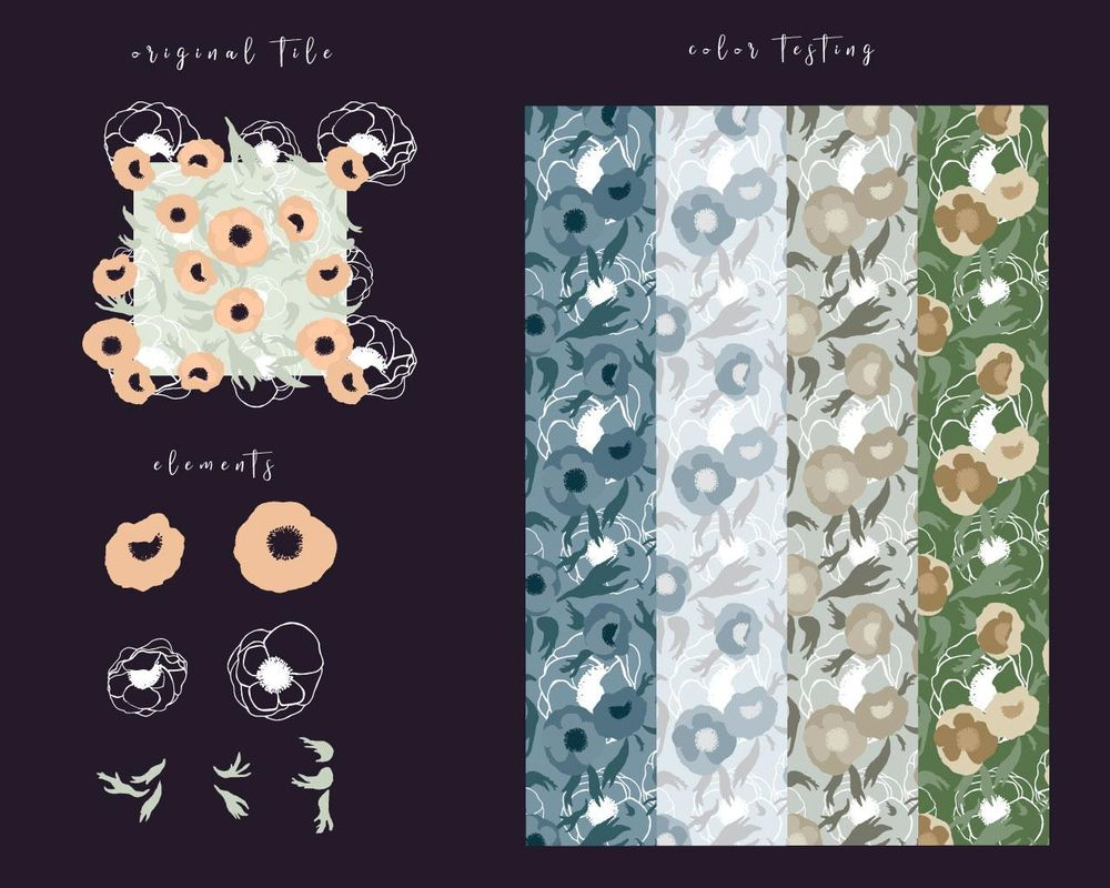 Layered floral pattern - image 2 - student project