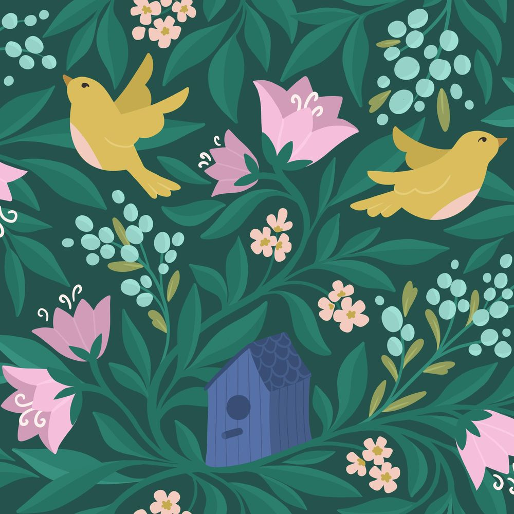 Birds & flowers - image 1 - student project