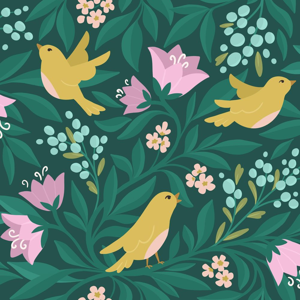 Birds & flowers - image 2 - student project