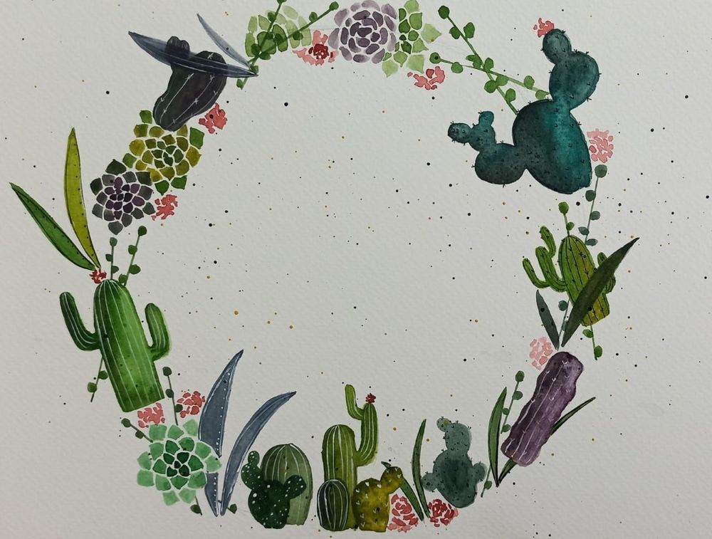 Cactus Wreath! - image 1 - student project
