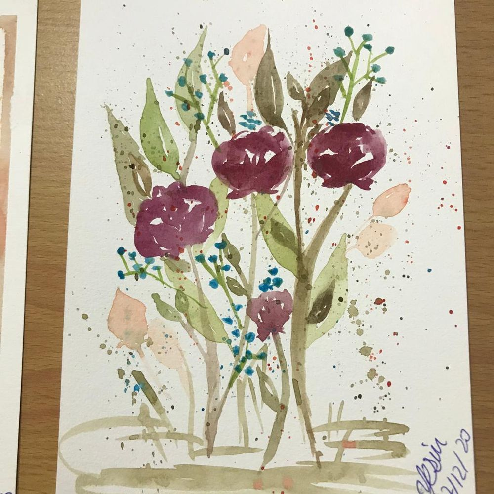 Autumnal Watercolor Bouquets - image 3 - student project