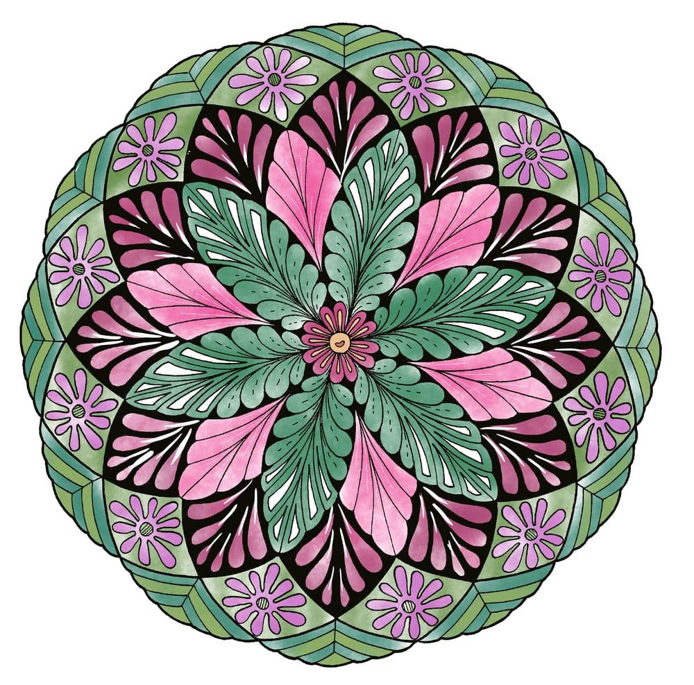 My Coloring Mandala - image 1 - student project