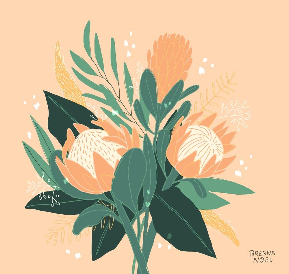 King Protea & Eucalyptus - image 6 - student project