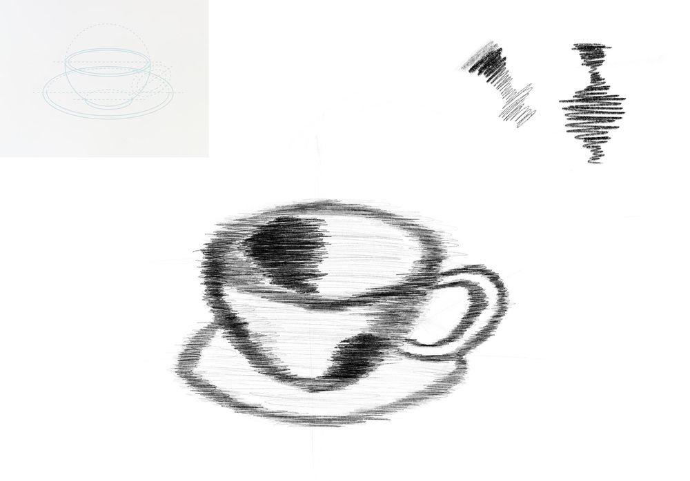 Dynamic Mark Making - 3 Cups - image 1 - student project