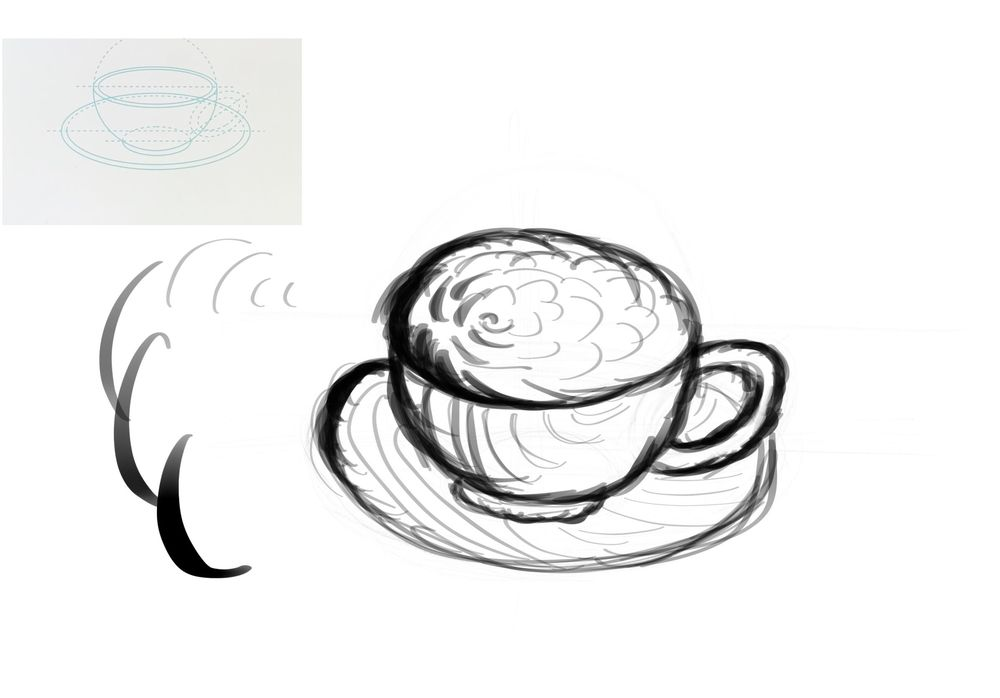 Dynamic Mark Making - 3 Cups - image 2 - student project