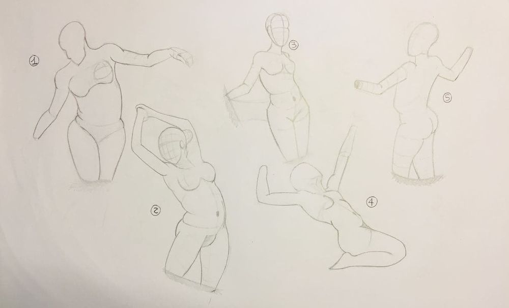 Gesture drawing, session 2 - image 1 - student project