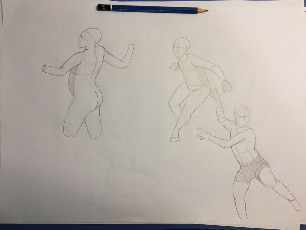 Gesture drawing, session 2 - image 4 - student project