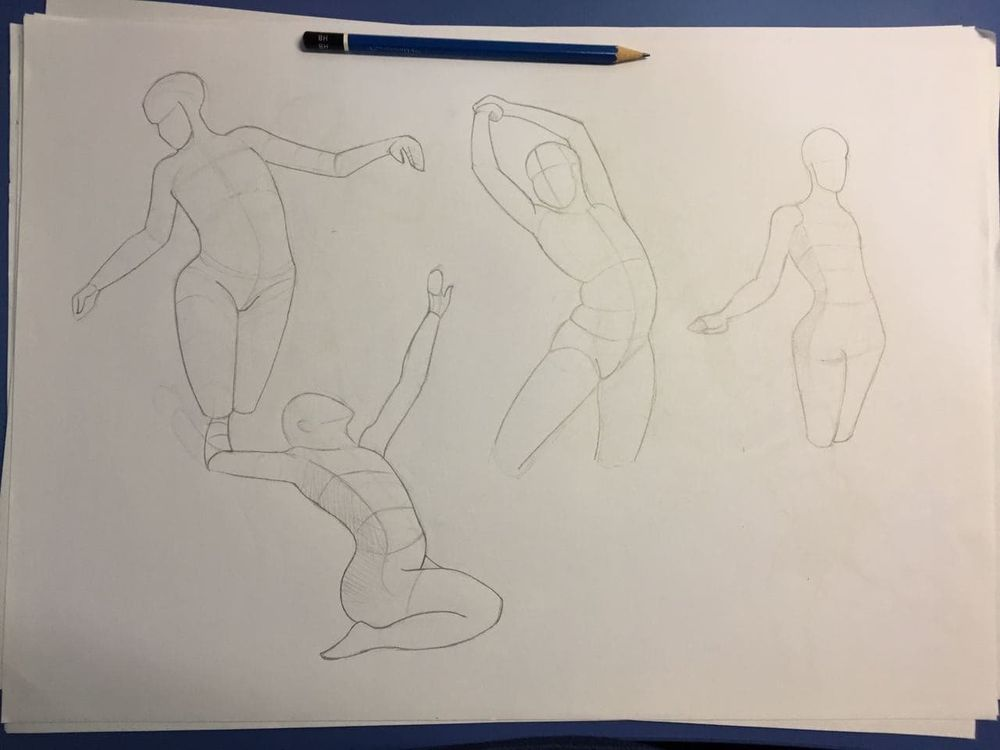 Gesture drawing, session 2 - image 3 - student project