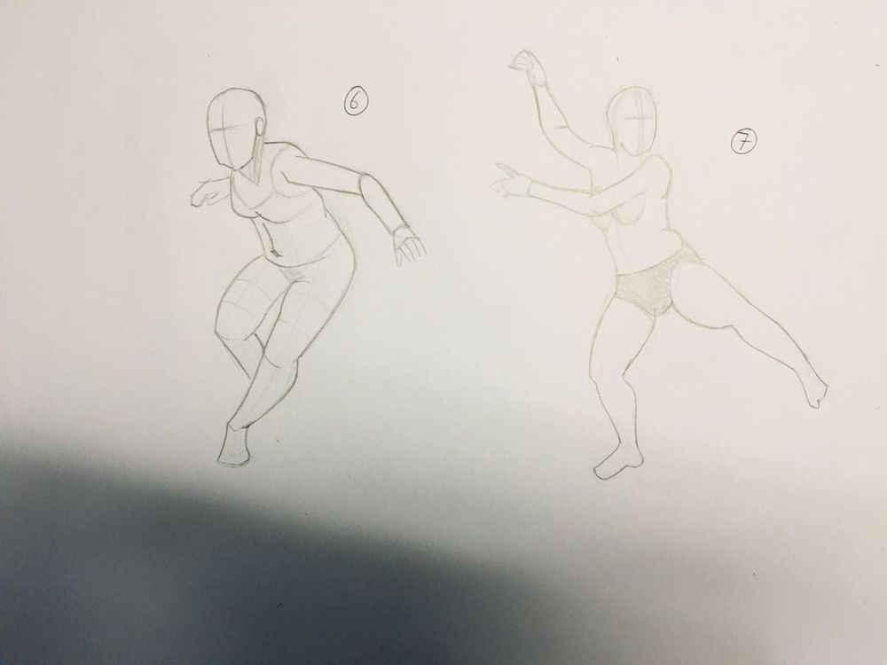 Gesture drawing, session 2 - image 2 - student project