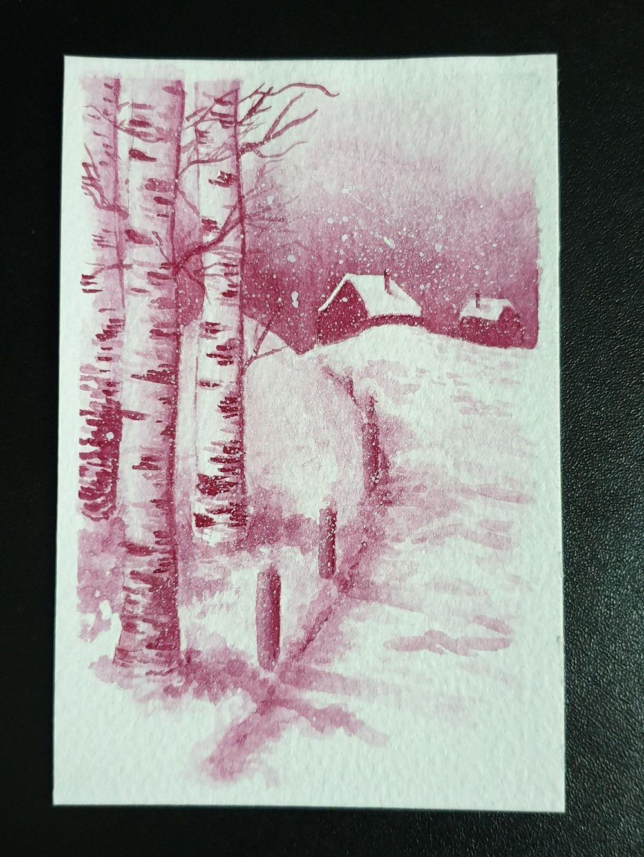 Crimson Snowy Cabin - image 1 - student project