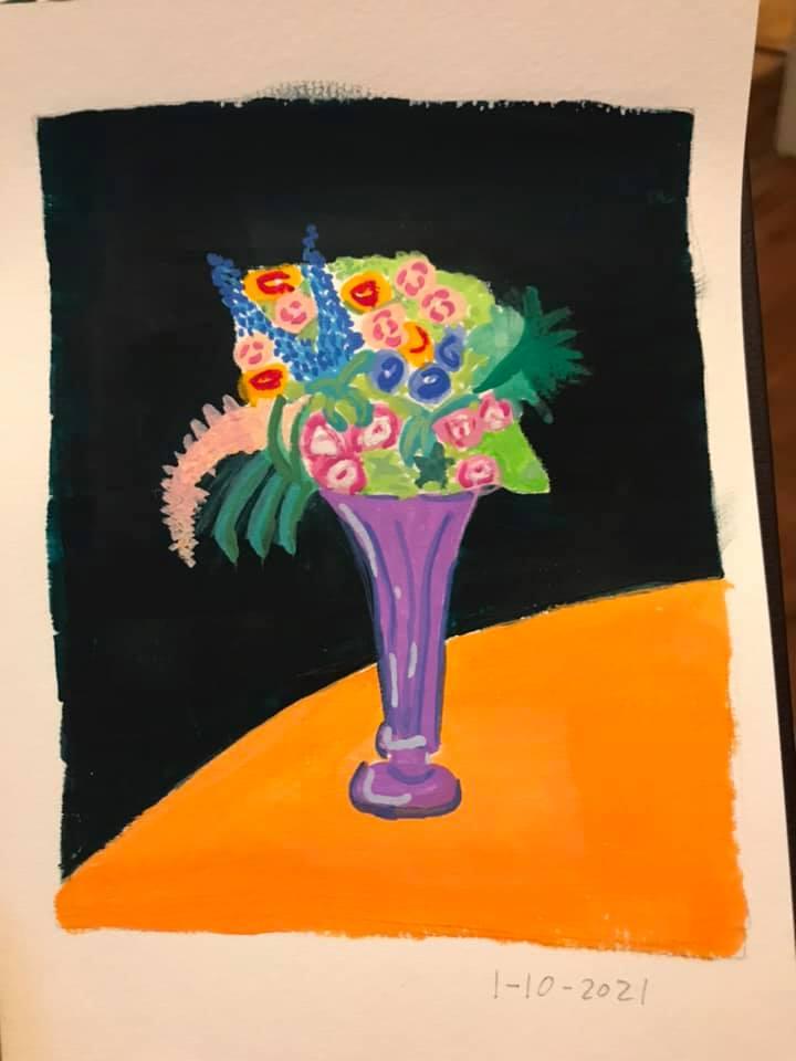 Gouache Flowers - image 1 - student project