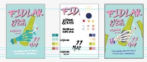 FIDLAR GIG POSTER - image 3 - student project