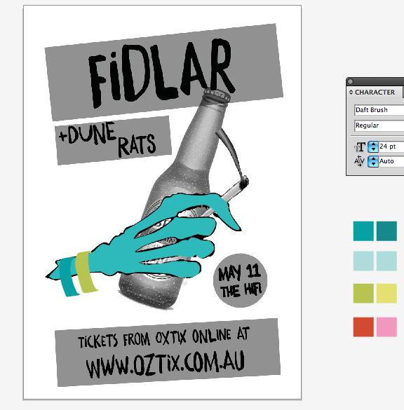 FIDLAR GIG POSTER - image 2 - student project