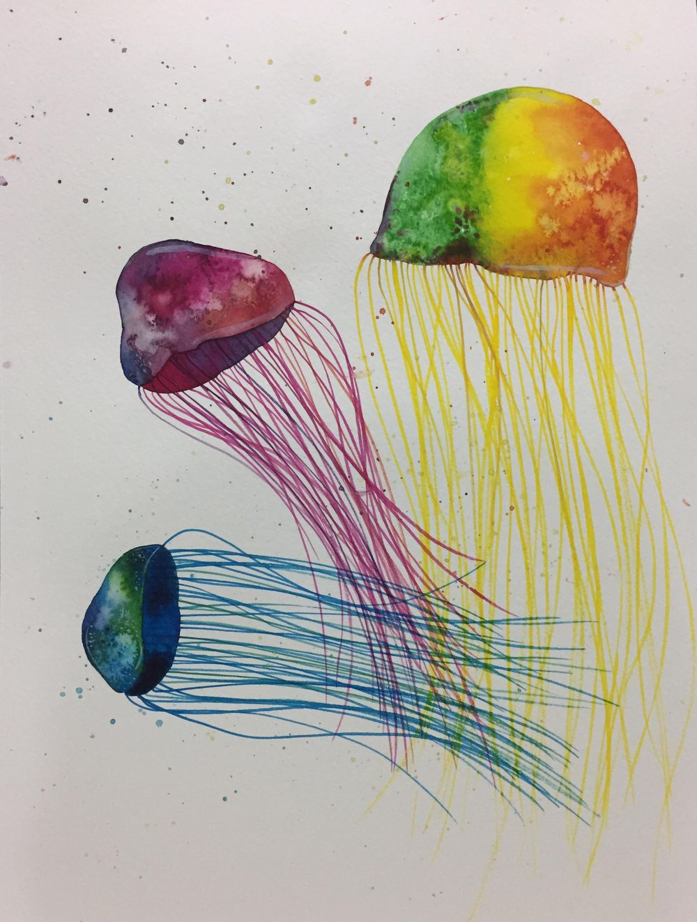 Monochrome mushrooms, Eletric jellyfishes and Galaxy - image 3 - student project