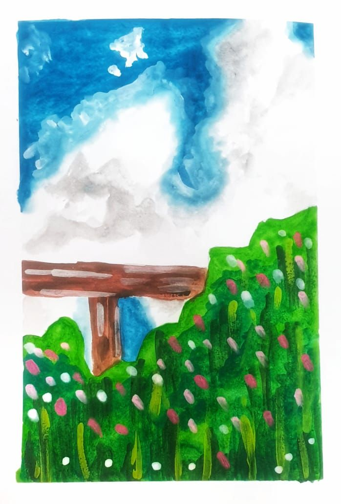 Gouache kick-starter: Painting Meadows- Class Projects - image 1 - student project