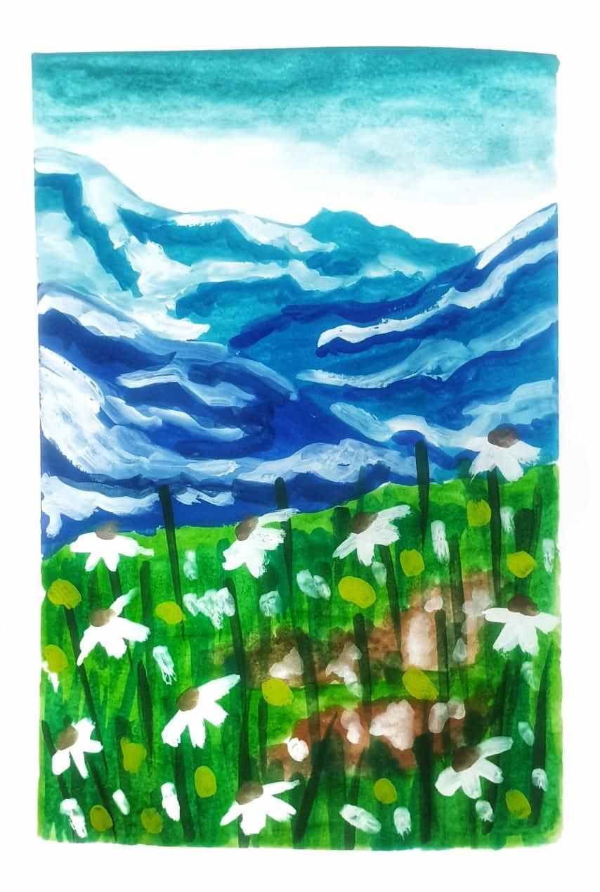 Gouache kick-starter: Painting Meadows- Class Projects - image 3 - student project
